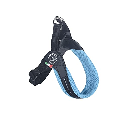 Hundegeschirr Tre Ponti Easy Fit Pastell verstellbar (2-4 kg bis 5 kg, Hellblau)