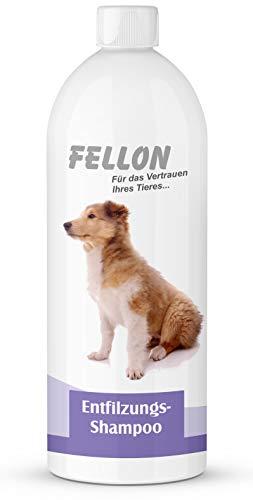 Fellon Entfilzungs Shampoo für Hunde   1 Liter   Hundeshampoo   Löst verfilzungen sanft und schonend   Milde Waschsubstanzen   Pflegend