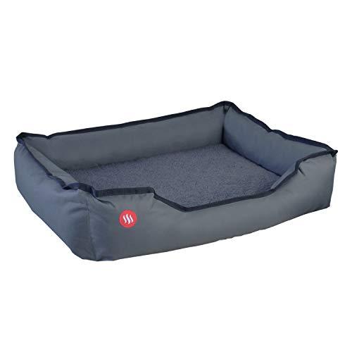 Glovii Beheiztes Bett Für Mittlere Und Große Haustiere, Dunkelgrau