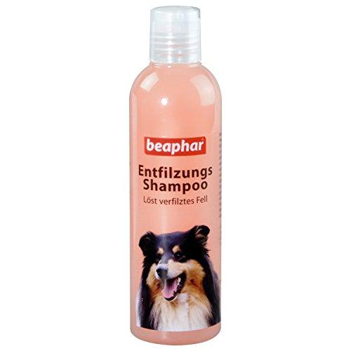 Beaphar Entfilzungs-Shampoo   Hundefell entfilzen   pH neutral   Fellpflege für langhaarige Hunde   Entfilzung ohne Schermaschine   250 ml