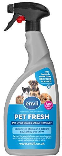 Envii Pet Fresh - Haustier-Geruchsentferner/Fleckenentferner - Enzymreiniger gegen Geruch & Flecken - 100 % Bio, Hunde, Katzen, Meerschweinchen, Kaninchen & mehr - Für Auto, Sofa, Teppich - 750ml