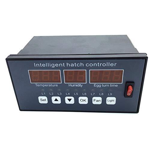 XINXI-YW Haustierheizung Pad Incubator-Controller automatisch und Multifunktions-Ei-Brut Control System Lüfterschalter Temperatur- und Feuchtigkeitssensoren Reptilien- und Amphibien-Lebensraum