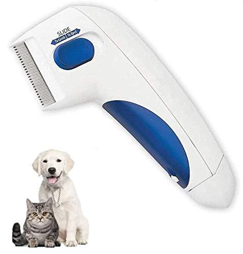 Zhujial Elektrischer Flohkamm, Elektrokamm, Läusekamm zum Entfernen von Läusen und Haustieren Reinigungskamm & Entfernen Haustierreinigung Erfassungswerkzeug Hunde & Katzen