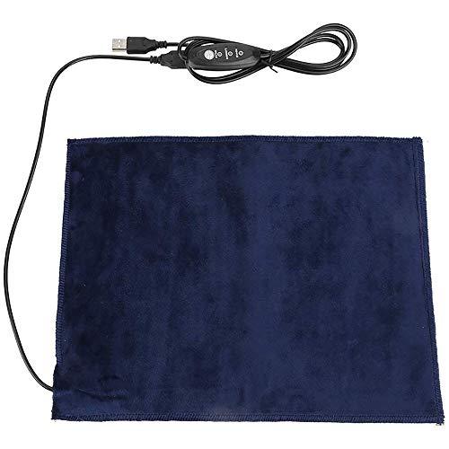 Donpow Weiches Flanell-Haustier-Heizkissen, beheiztes Katzenbett mit 5 V 2A-USB-Anschluss, 24 x 30 cm faltbar, waschbar, beheizte Hundebetten, 3 Heizmodi