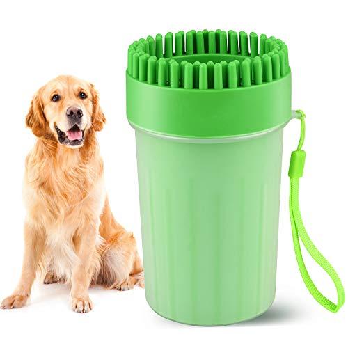Beinhome Haustier Pfoten Reiniger, Hunde Pfotenreiniger Dog Paw Cleaner Tragbarer Hundepfoten Reiniger Hundezubehör für große und Normale Hunde,Pfotenreiniger aus Silikon