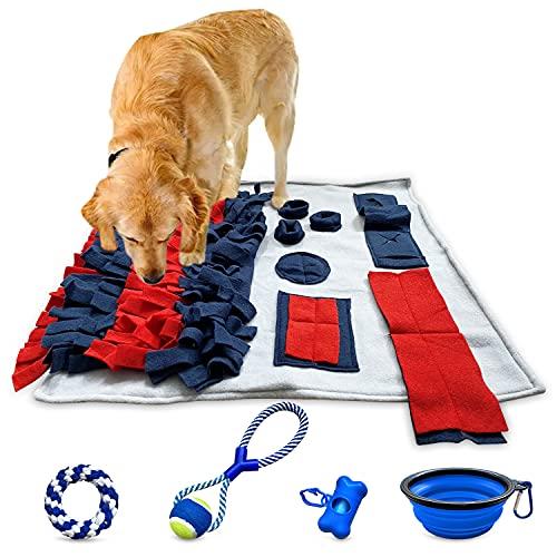Schnüffelteppich Hund Intelligenzspielzeug Suchspielzeug Hund Schleckmatte Futterteppich Beschäftigung Strategiespiel Hundespielzeug Interaktives Spielzeug Futterspielzeug mit Zubehör Accessories
