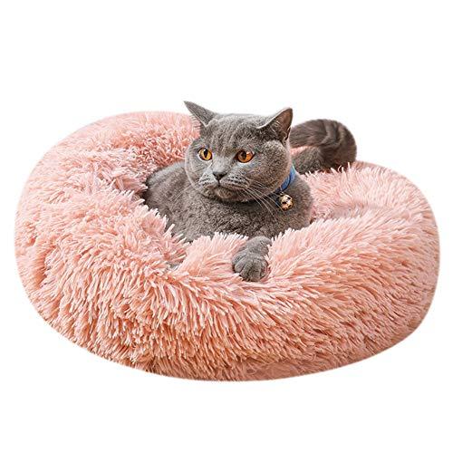ITODA Haustierbett Donut Hundebett Haustier Bett Flauschig Katzenbett Warm Hundekissen Welpenbett Weich Baumwollbett Hunde Welpen Tierbett Katze Katzenkissen Waschbar Hundedecke Hundeschlafplatz M