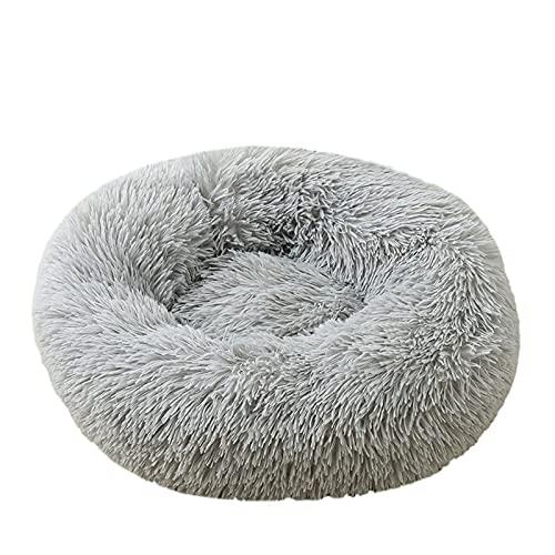 IVYUP Plüsch-Hundebett, rund, Haustierbetten für kleine Hunde und Katzen, wärmend, kuschelig weich