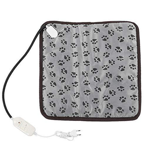Haustier Heizkissen Heizmatte Wärmematte Katzendecken Thermomatte elektrisches Heizkissen für Hunde und Katzen, 45 x 45 x 1 cm(S-Stoff)