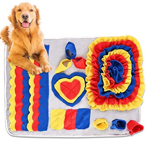 Nabance Schnüffelteppich Hunde Schnüffelrasen Hund Riechen Trainieren Matte Futtermatte Trainingsmatte intelligenzspielzeug Waschbar Faltbar rutschfest Hundespielzeug Schnüffelspielzeug