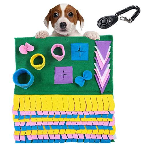 Cool Design Schnüffelteppich Hund, Schnüffelspielzeug Faltbar, Waschbar Riechen rutschfest Hundespielzeug, Katzen Intelligenzspielzeug, Fördert Die Natürlichen Futtersuchfähigkeiten (Grün)