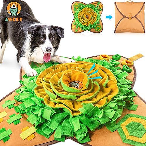 AWOOF 【Aktualisierte】 Schnüffelteppich Hund groß Intelligenzspielzeug für Hunde Schnüffelspielzeug Langlebiges Interaktives Hundespielzeug Fördert Die Natürlichen Futtersuchfähigkeiten